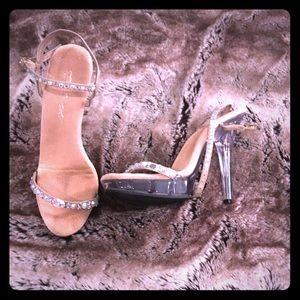 Bling strappy heel